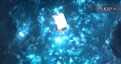 青く光る宝石